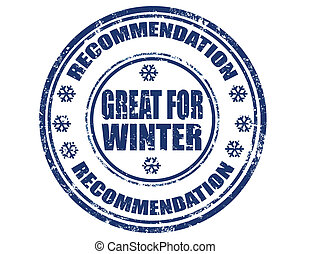 Great for winter-stamp