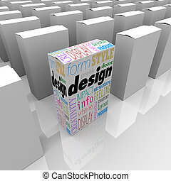 Great Graphic Design One Unique Product Box Stands Out