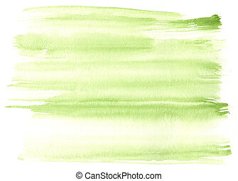 great green watercolor background - watercolor paints on a...