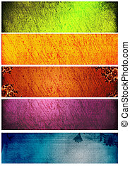 Great grunge textures and backgrounds for banners - Great...