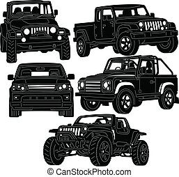 4x4 Truck Silhouette - great illustration of 4x4 Truck...