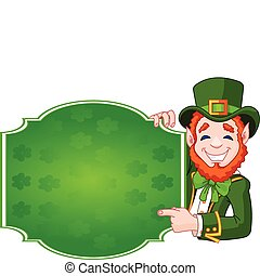 St. Patrick's Day Lucky Leprechaun - Great illustration of a...