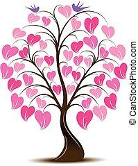 Ornaments Heart Tree with Bird