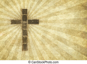 christian cross on parchment - great image of a christian ...