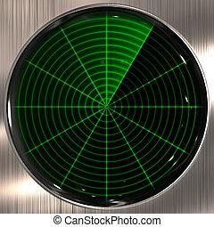 radar or sonar screen - great image of a radar or sonar ...