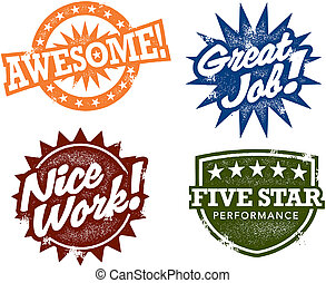 Great Job Awesome Stamps - A great collection of stamps to...