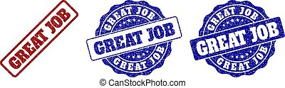 GREAT JOB Scratched Stamp Seals