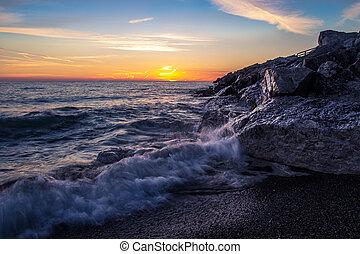 Great Lakes Summer Sunrise - Sunrise horizon along the Lake...