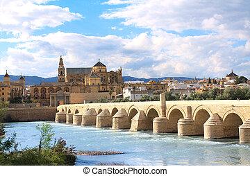 Great Mosque and Roman Bridge, Cordoba, Spain - Great Mosque...