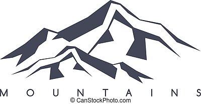 mountain range theme - great mountain range theme vector art...