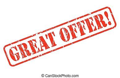 Great offer red stamp text
