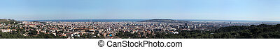 Great overview of Barcelona. Large Format. One can observe...