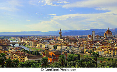 Great Panorama of Florence in Italy