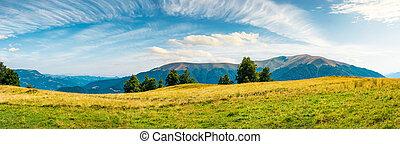 great panorama of mountainous landscape. gorgeous cloudscape...