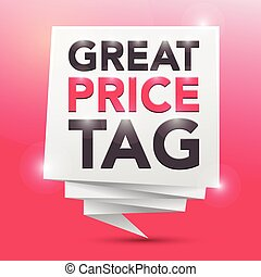 GREAT PRICE TAG, poster design element