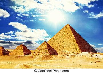 Great Pyramid , located at Giza Egypt.