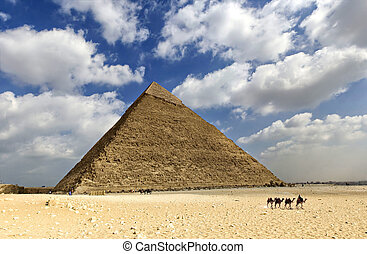 Great pyramid of Egypt - Image of one of the pyramids in the...