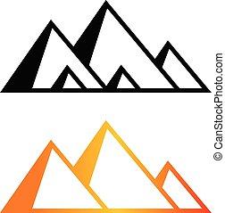 Great Pyramid of Giza logo and icon, vector art design