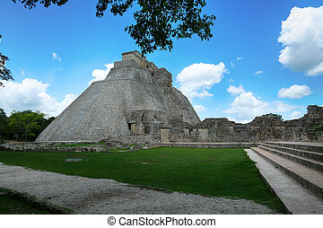 Great Pyramid of Uxmal Yucatan Mexico