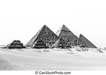 Great pyramids in Giza valley, Cairo, Egypt - The pyramids...