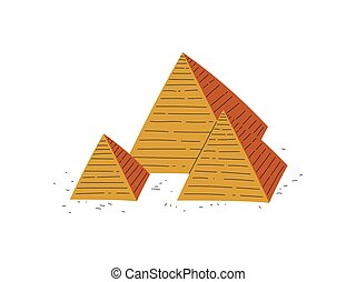 Great Pyramids of Egypt, Traditional Egyptian Culture Symbol Vector Illustration