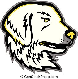 Great-Pyrenees-head-MASCOT