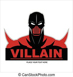 Red Villain - Great Red Villain isolated on red background....
