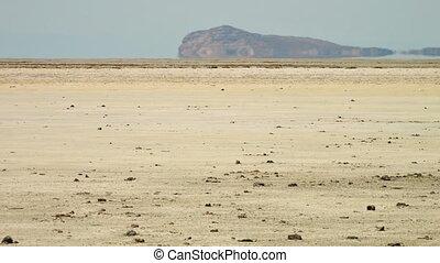 Great Salt Desert, Dash-e Kavir, Iran - Heat haze over the...