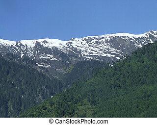 Great scene of Manali glaciers