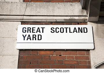 Great Scotland Yard Street Sign; Westminster; London
