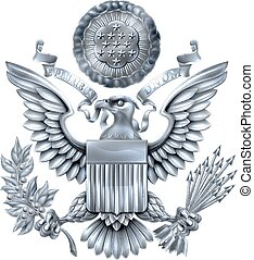 Great Seal of the United States Silver - Silver Great Seal...