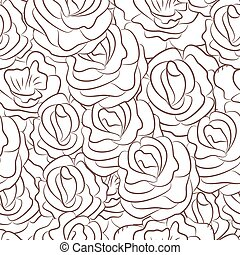 Great seamless pattern with flowers