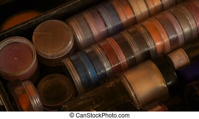 set of multicolored shadows in round jars - great set of...