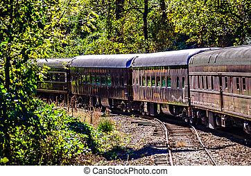 great smoky mountains rail road train ride
