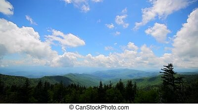 Great smoky mountains view. Day or morning timelapse....