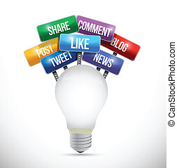 great social media concept illustration design