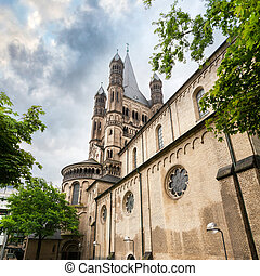 Great st. Martin church in Cologne. Germany.