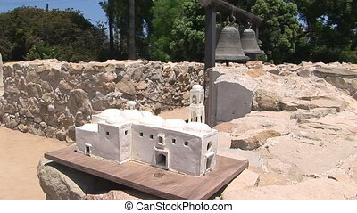 Great Stone Church and model - Historic Mission, San Juan...