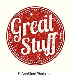 Great stuff grunge rubber stamp