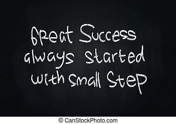 Great Success Quotes, written with Chalk on Blackboard