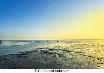 sunset at muddy beach