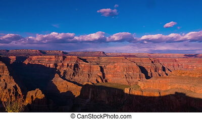 Great sunset over Grand Canyon time lapse shot