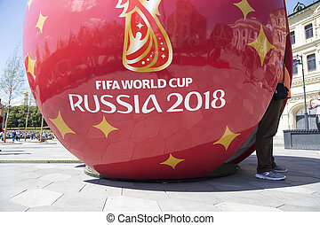 Great symbolic soccer ball with Symbols of the FIFA World...
