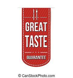 Great taste banner design