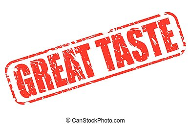 GREAT TASTE RED STAMP TEXT