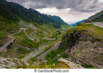 great Transfagarasan rout in stormy summer weather. great...