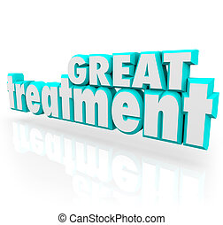 Great Treatment 3d Words Medical Therapy Help Cure Assistance