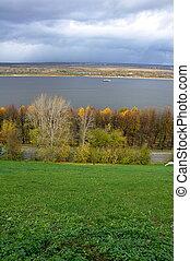 Great view over the Volga River in Nizhny Novgorod, Russia