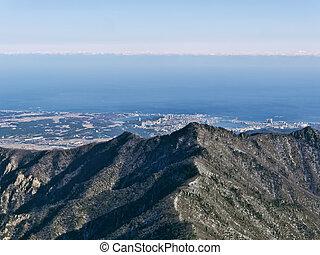 Great view to beautiful mountains Seoraksan. South Korea