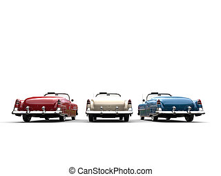 Great vintage cars - back view